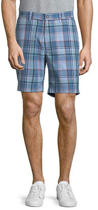 Nautica Roadmap Plaid Cotton Shorts