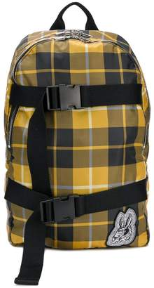 McQ plaid logo backpack
