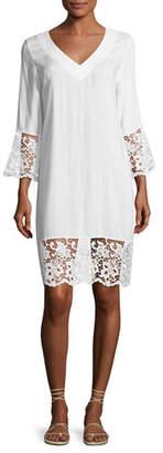 Lise Charmel Plage et Ville Lace-Trim Tunic Dress, White $244 thestylecure.com
