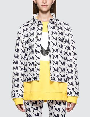 Calvin Klein Jeans Est.1978 Allover Print Trucker Denim Jacket