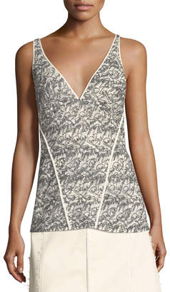 Derek Lam Lace V-Neck Cami Top