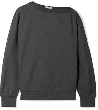 Brunello Cucinelli Embellished Cotton-blend Jersey Sweatshirt