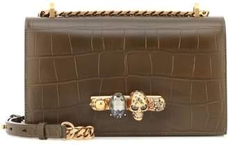 Alexander McQueen Embossed leather shoulder bag