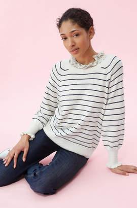Rebecca Taylor Cozy Stripe Pullover