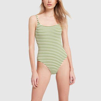 Solid & Striped The Nina Grass Ribbed One-Piece Swimsuit