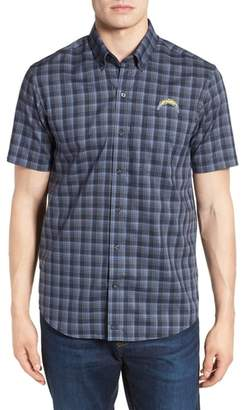Cutter & Buck Los Angeles Chargers - Fremont Regular Fit Check Sport Shirt