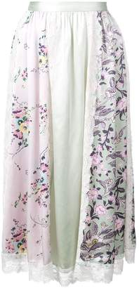 Jill Stuart floral print panel skirt