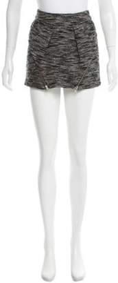 Isabel Marant Wool-Blend Mini Skirt Grey Wool-Blend Mini Skirt