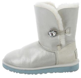 UGG Australia Bailey Button Metallic Boots $85 thestylecure.com