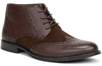 alpine swiss Men's Geneva Ankle Boots Brogue Wing Tip Dress Shoes