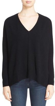 Women's Autumn Cashmere Side Slit Cashmere Sweater $297 thestylecure.com