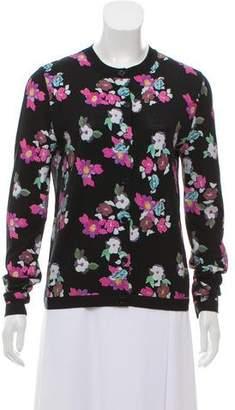 Thom Browne Floral Print Wool Cardigan