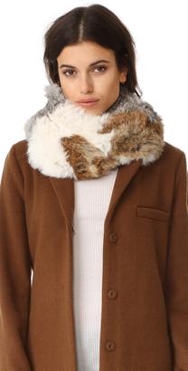 Jocelyn Chevron Fur Infinity Scarf $250 thestylecure.com