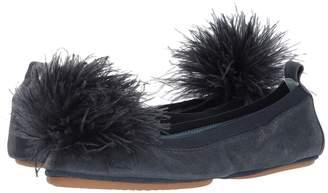 Yosi Samra Marry Me Marabou Women's Flat Shoes