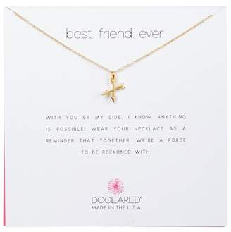 Dogeared 14K Yellow Gold Plated Sterling Silver 'Best.Friends.Ever' Crossing Arrows Pendant Necklace