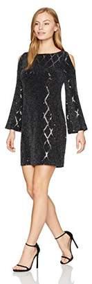 Jessica Howard Women's Petite Cold Shoulder Sheath Dress