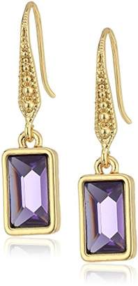 Laundry by Shelli Segal Baguette Drop Earrings