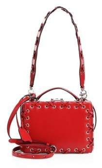 Mark Cross Grace Small Lace-Up Leather Box Shoulder Bag