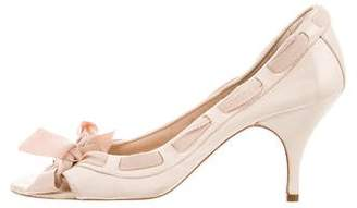 See by Chloe Leather Peep-Toe Pumps