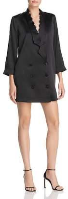 CAMI NYC Silk Tuxedo-Jacket Dress