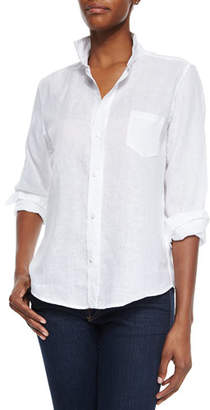 Frank And Eileen Long-Sleeve Linen Blouse, White