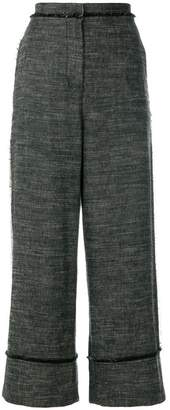 Pringle turn up wide leg trousers