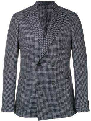 Ermenegildo Zegna houndstooth double-breasted blazer