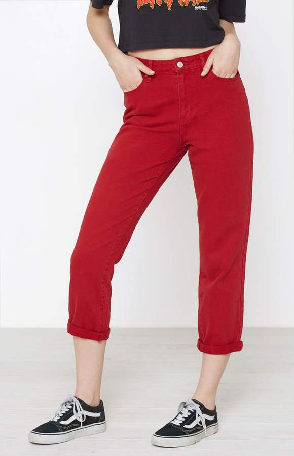 Pacsun Bam Red Mom Jeans