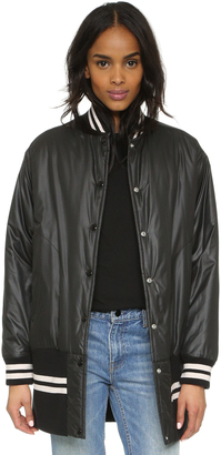 MM6 Oversized Reversible Bomber $990 thestylecure.com