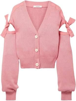 ADEAM Tie-detailed Cotton-blend Cardigan