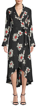 Equipment Gowin Floral Silk Midi Dress