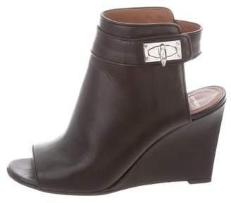 Givenchy Peep-Toe Wedge Booties
