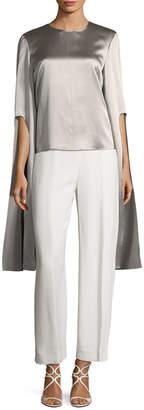Narciso Rodriguez Silk Split Sleeve Blouse
