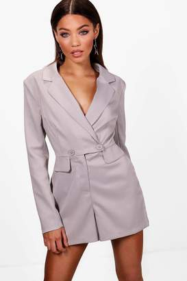 boohoo Blazer Playsuit