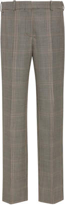 Givenchy Plaid Wool And Mohair-Blend Slim-Leg Pants
