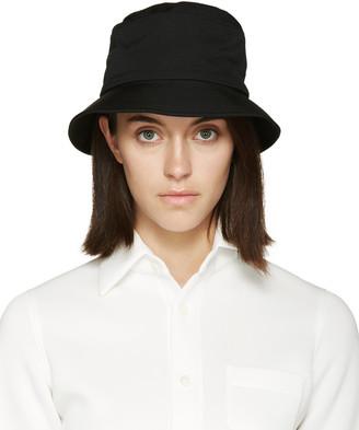 Yohji Yamamoto Black Wool Cloche Hat $490 thestylecure.com
