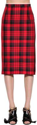 N°21 Plaid Water Resistant Pencil Skirt