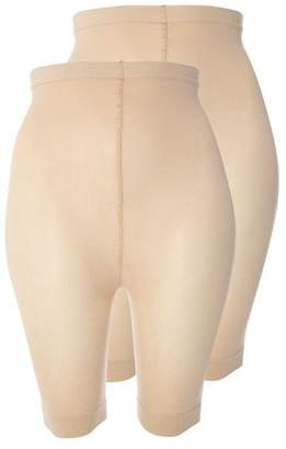 Evans 2 Pack Nude Comfort Shorts
