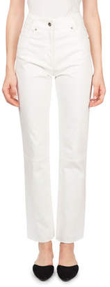 Magda Butrym Rockville High-Waist Straight-Leg Jeans