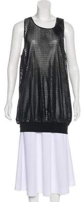 David Lerner Sleeveless Leather Top