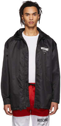 Moschino Black Logo Hooded Jacket