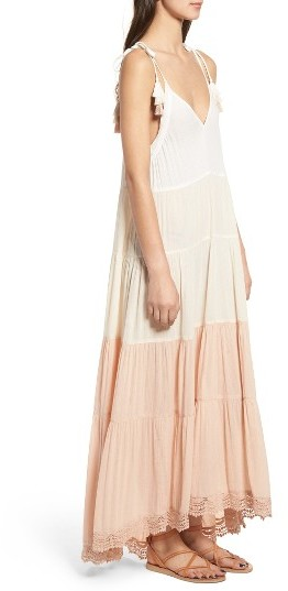 Women's Sun & Shadow Colorblock Maxi Dress 4