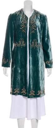 Adrienne Landau Embellished Velvet Jacket