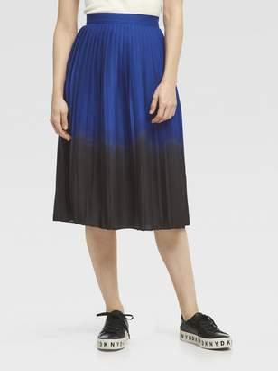 DKNY Dip-Dye Pleated Midi Skirt