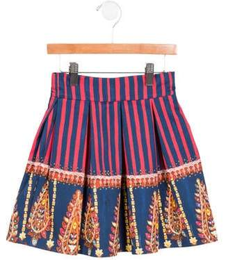 Stella Jean Girls' Pleated Printed Skirt w/ Tags