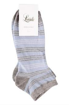 Levante Pavia Stripe Cotton Ankle Sock