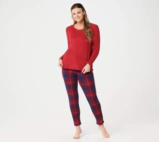 Cuddl Duds Regular Fleecewear Stretch Novelty Pajama Set