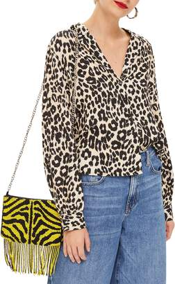 Topshop Jessica Animal Print Blouse