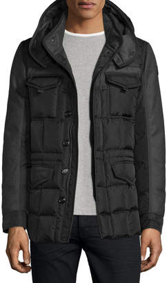 Moncler Jacob Mixed-Media Down Field Jacket
