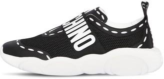 Moschino Logo Nylon Slip On Sneakers